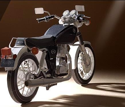 Motorcycles - Yamaha SR400 Papercraft