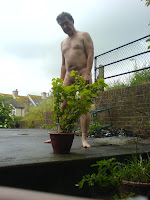 naturist, home nudist, naked garden, naked man, naked boy