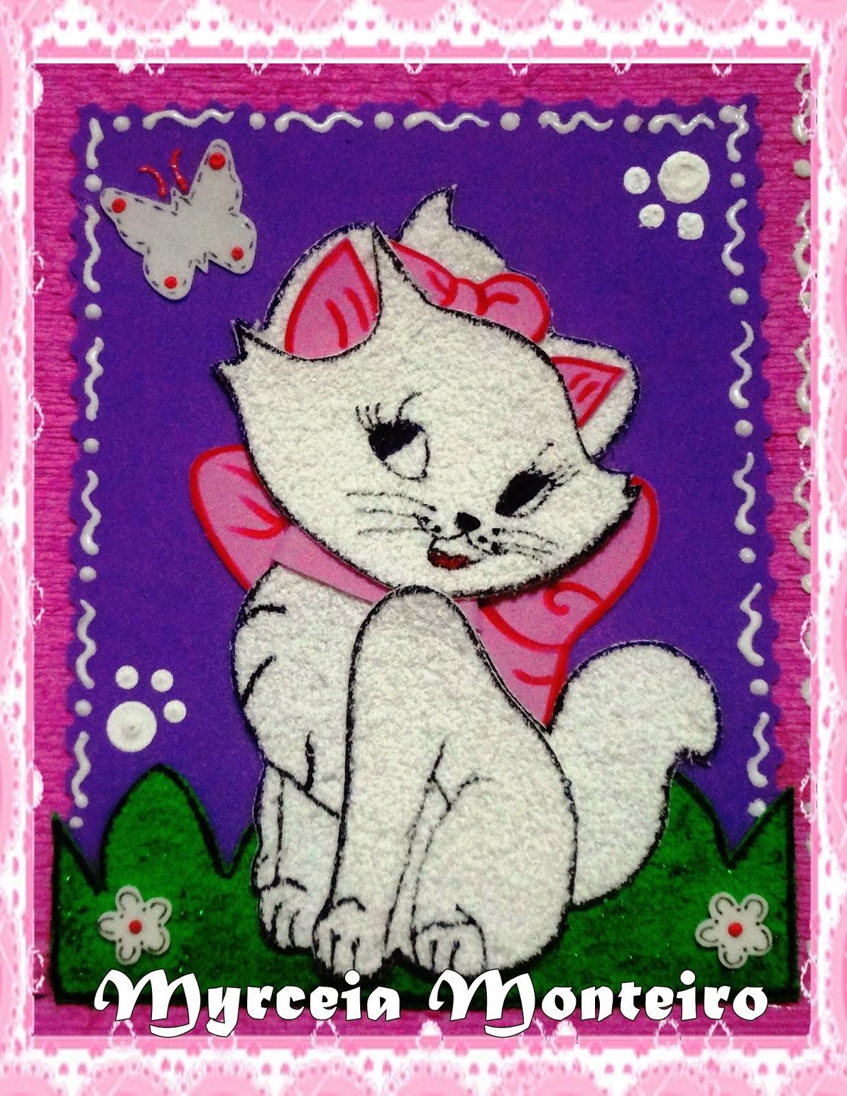 Amado Arte com e.v.a por Myrceia Monteiro: * Capa para cartão gatinha Marie LX71