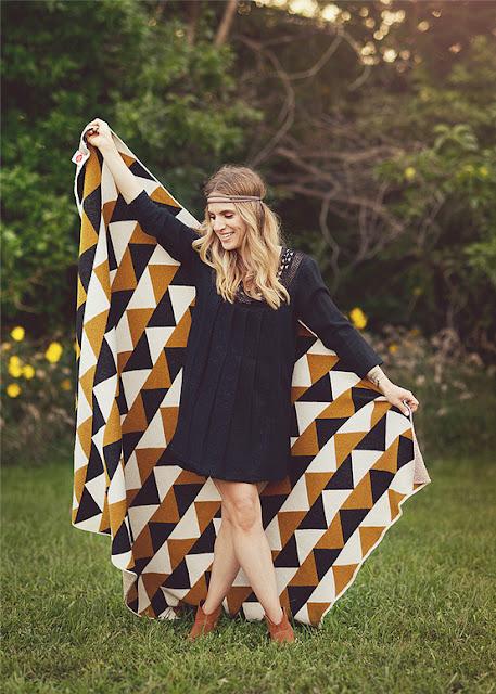 modern eco geometric blanket