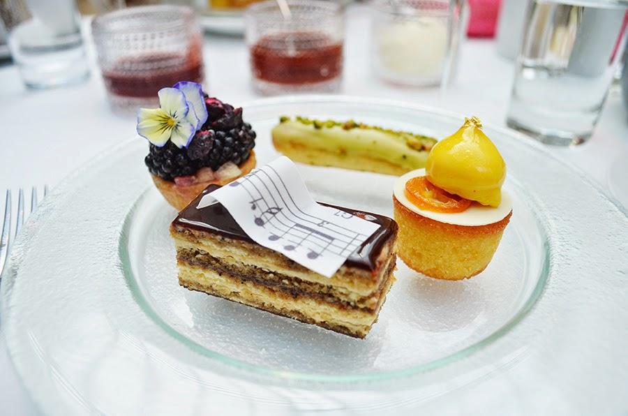 pastries claire clark, tea, Royal Opera House, paul hamlyn hall