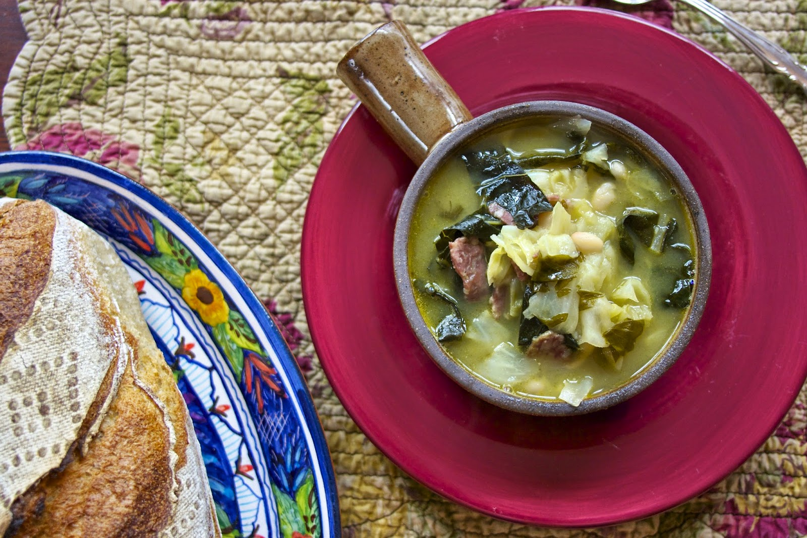 Cabbage Soup- Kale & White Bean- simplelivingeating.com