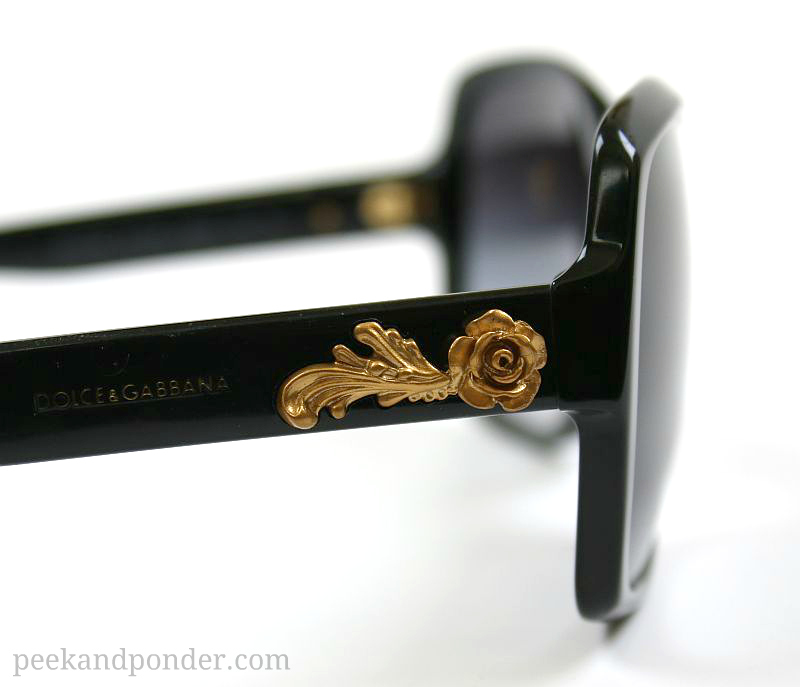 Dolce and Gabbana sunglasses with gold roses