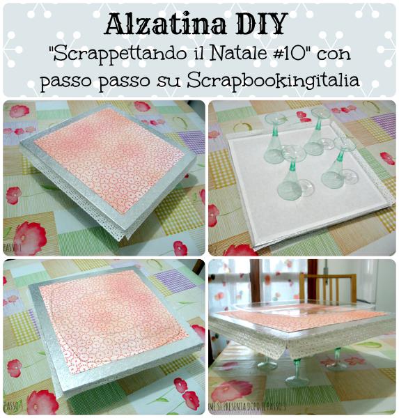 """Alzatina DIY by Desi per """"Scrappettando il Natale #10"""" con passo passo su Scrapbookingitalia"""