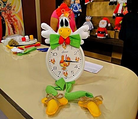 Moldes galo de feltro para decorar relógios
