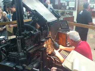 Linotypeのオペレーター