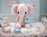 A Hand Sewn Happy Elephant