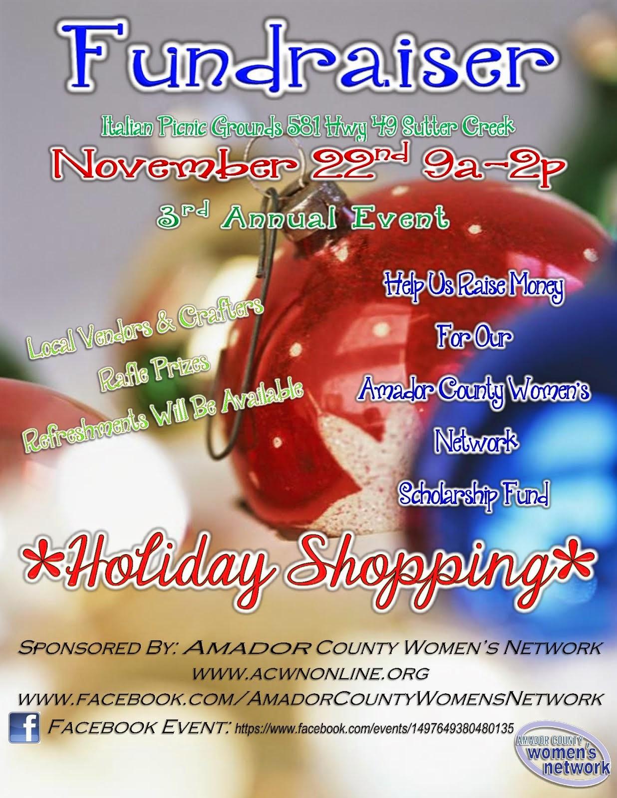 ACWN Holiday Fundraiser - Wed Nov 22