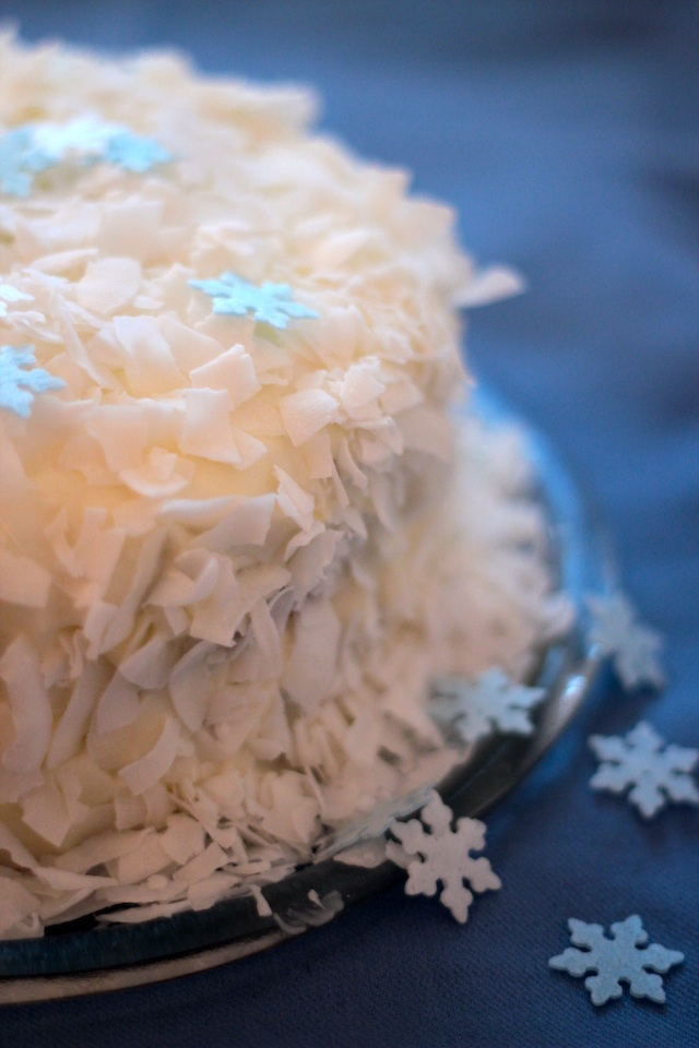 coconut cake side