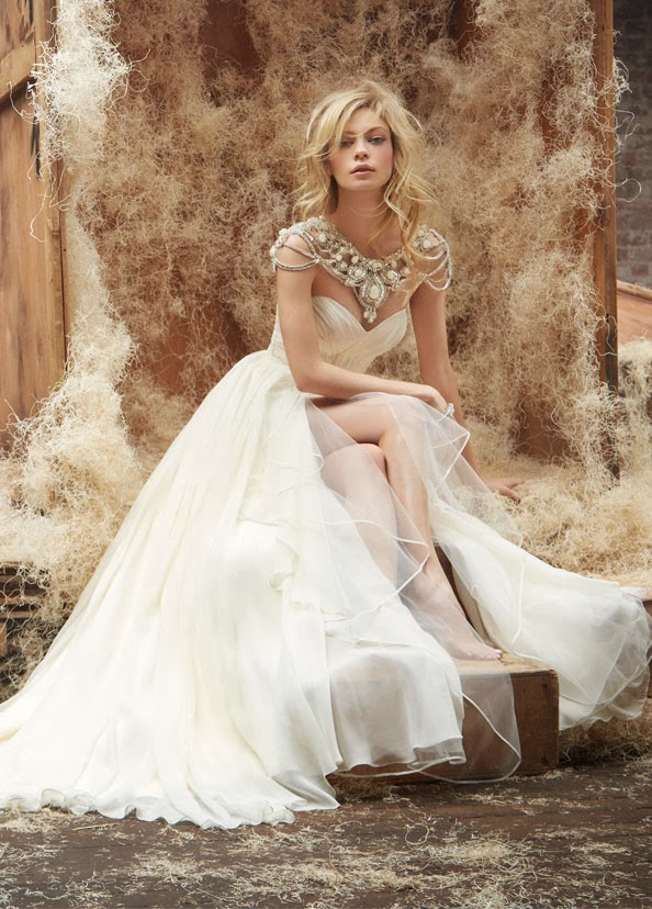 Hayley paige spring 2014 belle the magazine for Hayley paige wedding dress