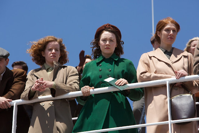 "Saoirse Ronan, center, as an Irish immigrant in John Crowley's soaring ""Brooklyn"""