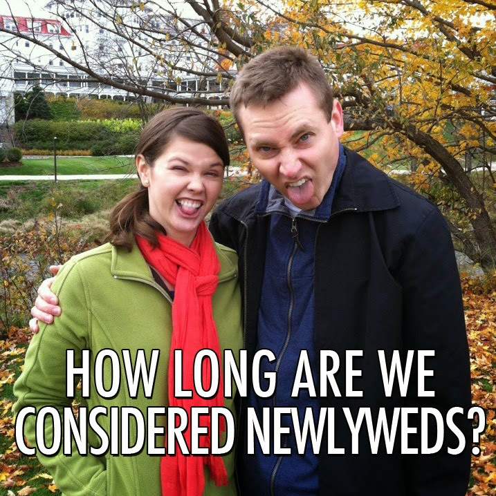 How long are you considered a newlywed? Here's my theory!