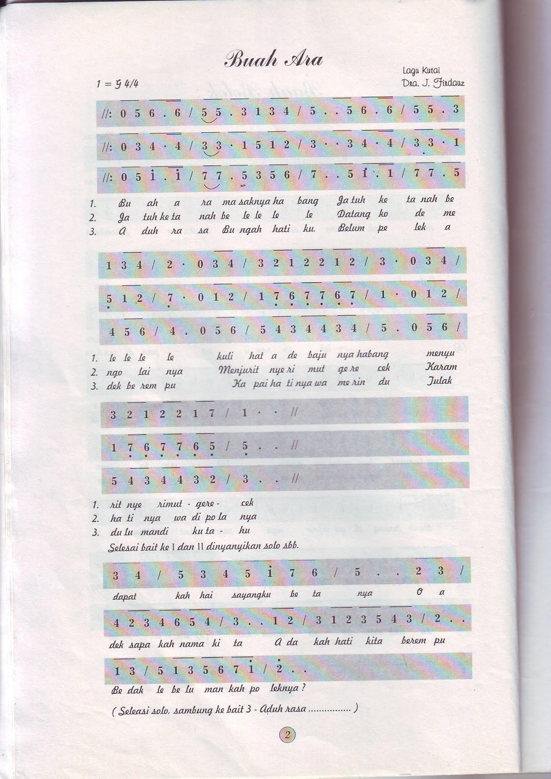 Lirik Lagu Daerah Tradisional Liriklaguindonesianet