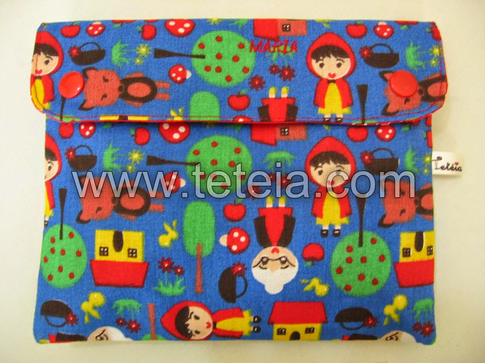 Tetéia Patchwork: Kit de higiene bucal infantil chapeuzinho vermelho  #B1201A 1600x1200