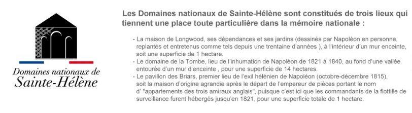 Présentation des domaines nationaux de Sainte-Hélène