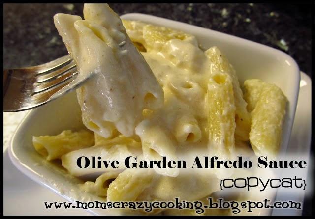 Moms crazy cooking for Olive garden fettuccine alfredo recipe copycat