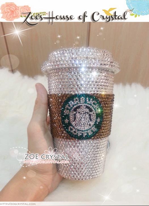 Stylish Sparkly And Bling Crystallized Starbucks Ceramic