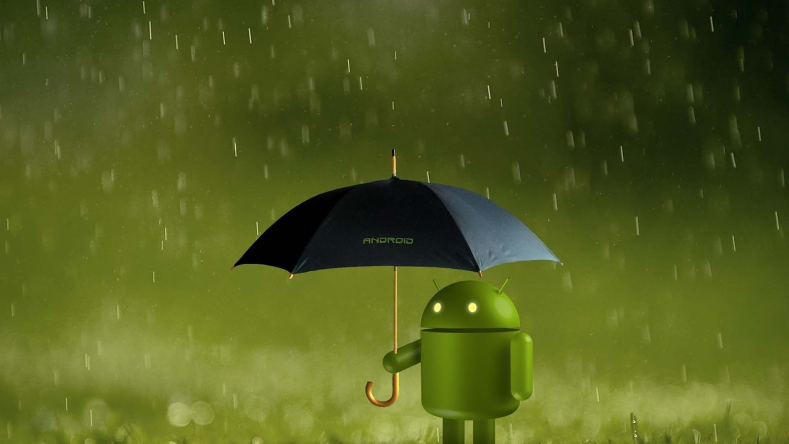 Cool Android Rain Mobile HD Wallpaper