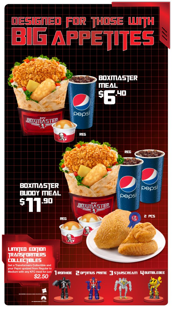 Kfc Toy Food : Transformers philippines transform kfc s boxmaster toy meal
