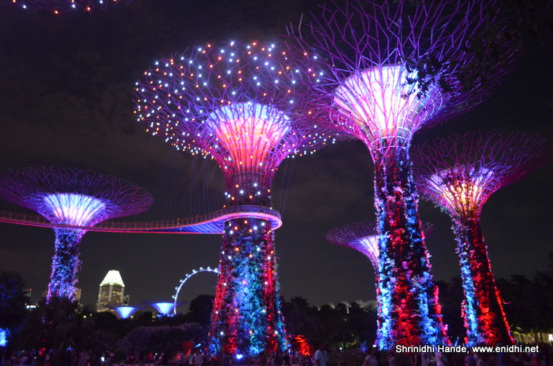 Spectacular evening sound and lights show at Gardens by the bay, Singapore - eNidhi India Travel ...