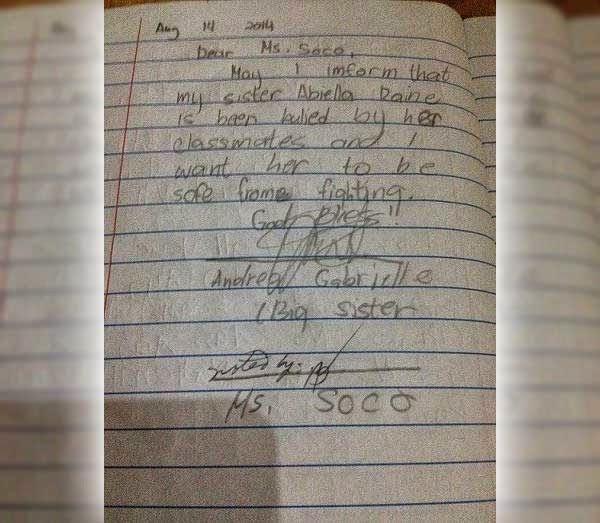 Gaby's letter to Raine's adviser