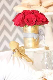 By Far The Most Affordable Idea In Our Guide Is Gold Sprayed Metal That Can Serve As A Vase Insanely Easy To Realize And Beautiful At Same Time