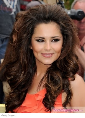 cheryl cole big curly hairstyle fashion and cosmetics