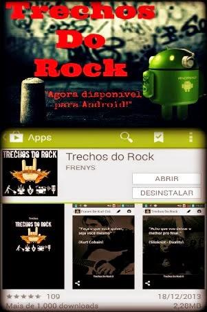 Aplicativo Official do Trechos Do Rock para #Android. Clique no Banner Abaixo!