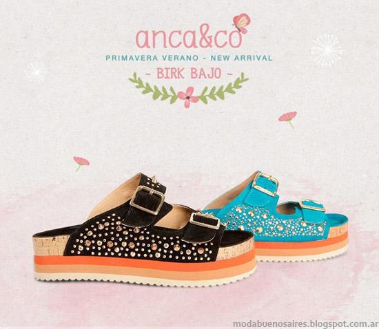 Sandalias 2014 Anca & Co primavera verano 2014.