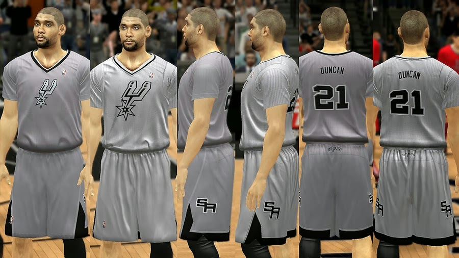 NBA 2K14 Christmas Day Uniform - San Antonio Spurs