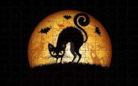 Halloween cats & bats