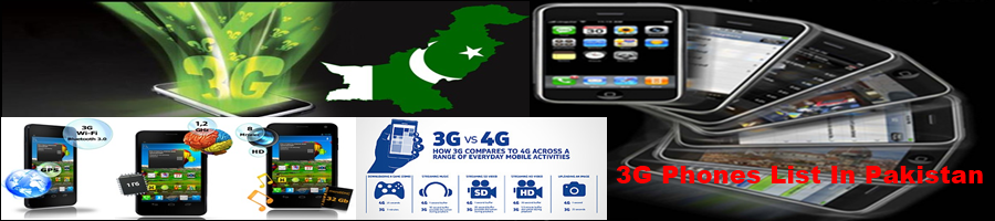List of 3G Smartphone Prices In Pakistan