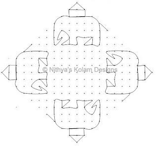 2 Elephant Kolam