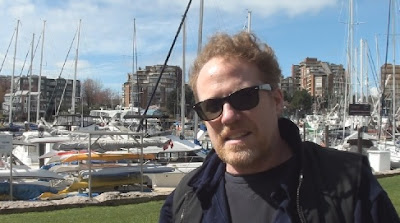 Steve #5 in front of sailboats in Vancouver