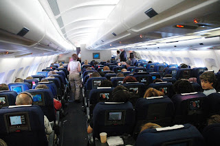 passenger cabin during flight
