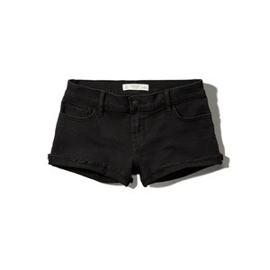 The low rise black shorts from Abercrombie & Fitch