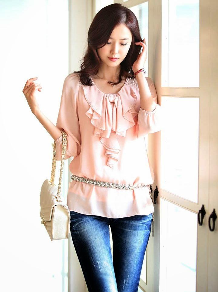 blouse wanita korea