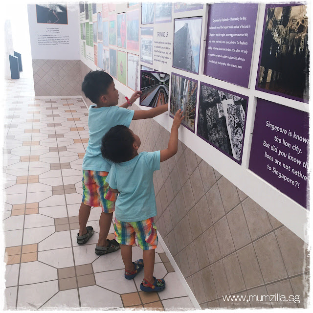 Adam and Ashton at Singapore Discovery Centre, free indoor activities for children