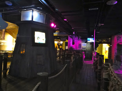 Entrance to pirate horror house at E-da World Kaohsiung