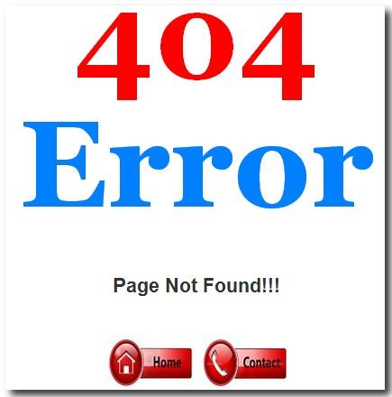 create custom page error not found