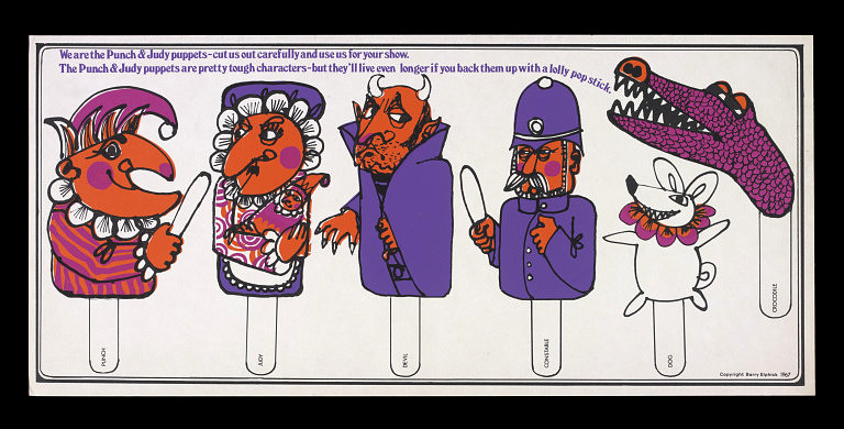 Characters From Punch Judy For Use With A Paper Theatre Barry Elphick 1967 The Victoria Albert Museum