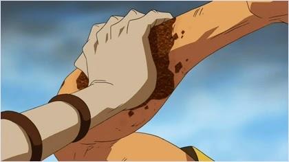 พลังผลซาบิซาบิเปลี่ยนแขนโซโลเป็นสนิม