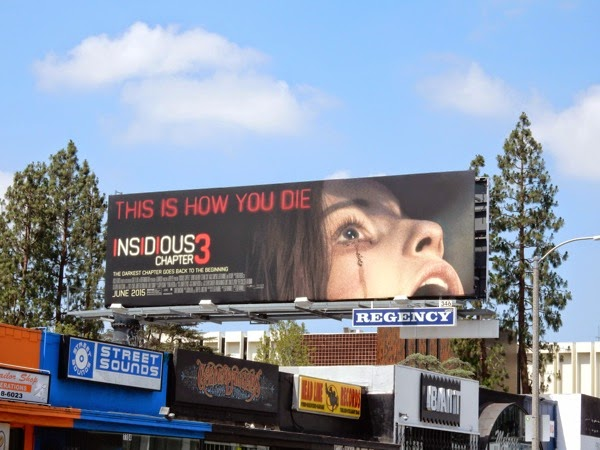 Insidious: Chapter 3 movie billboard