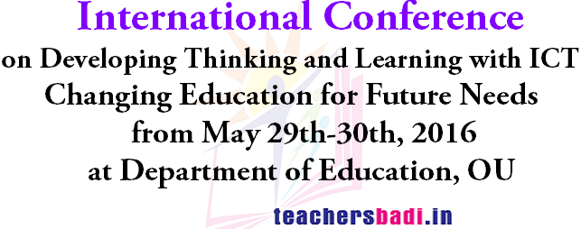 International Conference,Developing Thinking and Learning,ICT OU