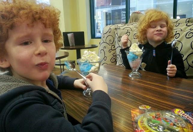 Ice Cream Sundae at Cadwaladers in Barton Square, Trafford Centre
