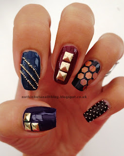 fashion nails stud bead nail art