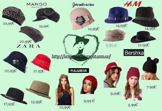 Colección otoño-invierno 2012-2013 Complementos gorros sombreros zara mango pull&bear