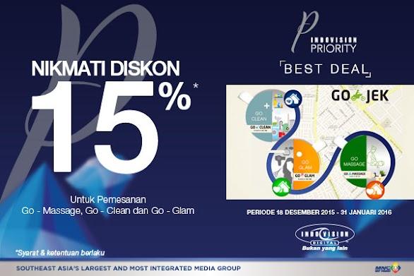 Diskon 15% Go-Jek untuk Anda Pelanggan Indovision