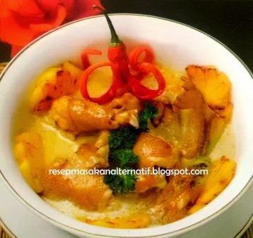 Resep Membuat Opor Ayam Goreng Kuah Kuning Enak