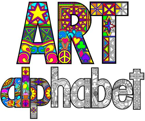 Art Bubble Letters Alphabet